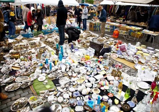 блошиный рынок париж