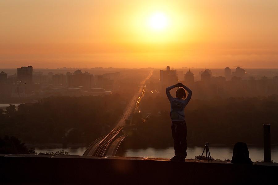 рассвет на правом берегу днепра киев
